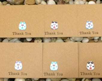 Multi Pack Cat Thank You Cards, Kitten Thank You Cards, Cute Cat Cards, Rustic Thank You, Cat Note Cards, Cat Party Theme, Cat Lover Cards