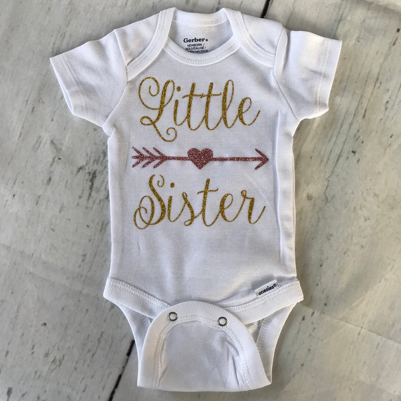 09764d180f3c Little Sister Bodysuit  Baby Girl Onesie  Customized Baby