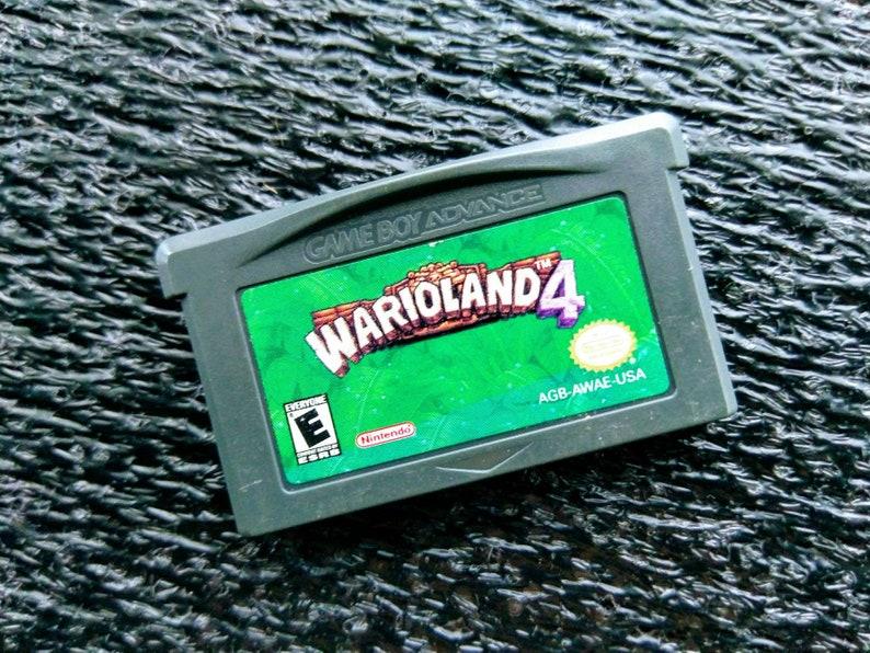 Warioland 4 Retro Gameboy Advance Game Cartridge