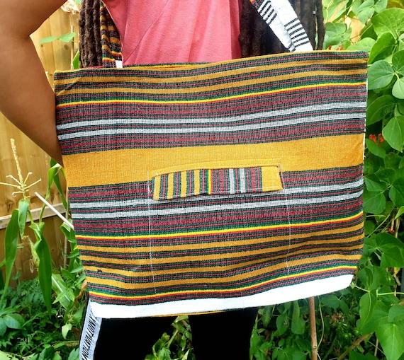 Ethiopian Traditional Bag Handwoven Material rasta color