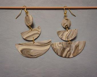 Handmade Marble drop earrings