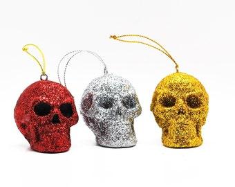 Blood Splatter Skull Bauble Bloody drip Skull Bauble Skull Baubles