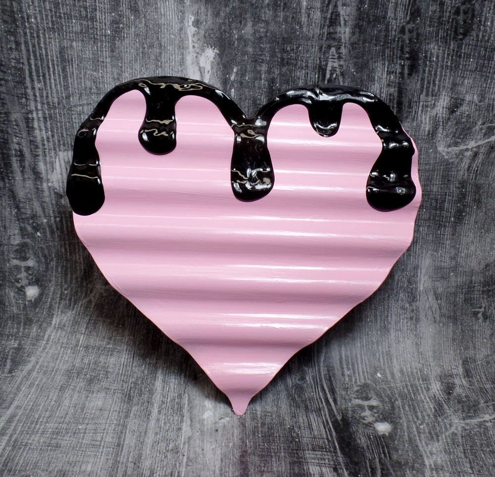 Pink Pastel Goth Heart Demon Blood Heart Dripping Heart