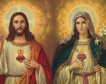 Sacred Heart of Jesus and Mary  Magnet 2.5 x 3.5