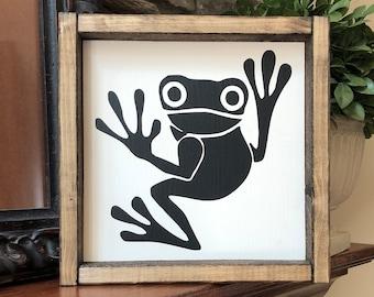 Frog Wall Decor Etsy