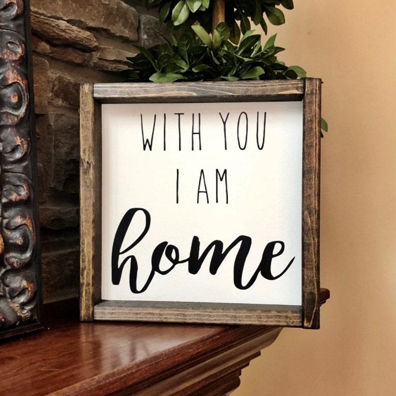 Ich Bin Bei Dir Zuhause Zeichen Romantische Zeichen Etsy