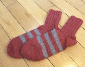 Baby child Finnish wool striped socks
