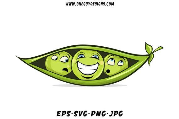 Green Peas Clipart Vector Svg Files Cute Cartoon Png Clip Etsy