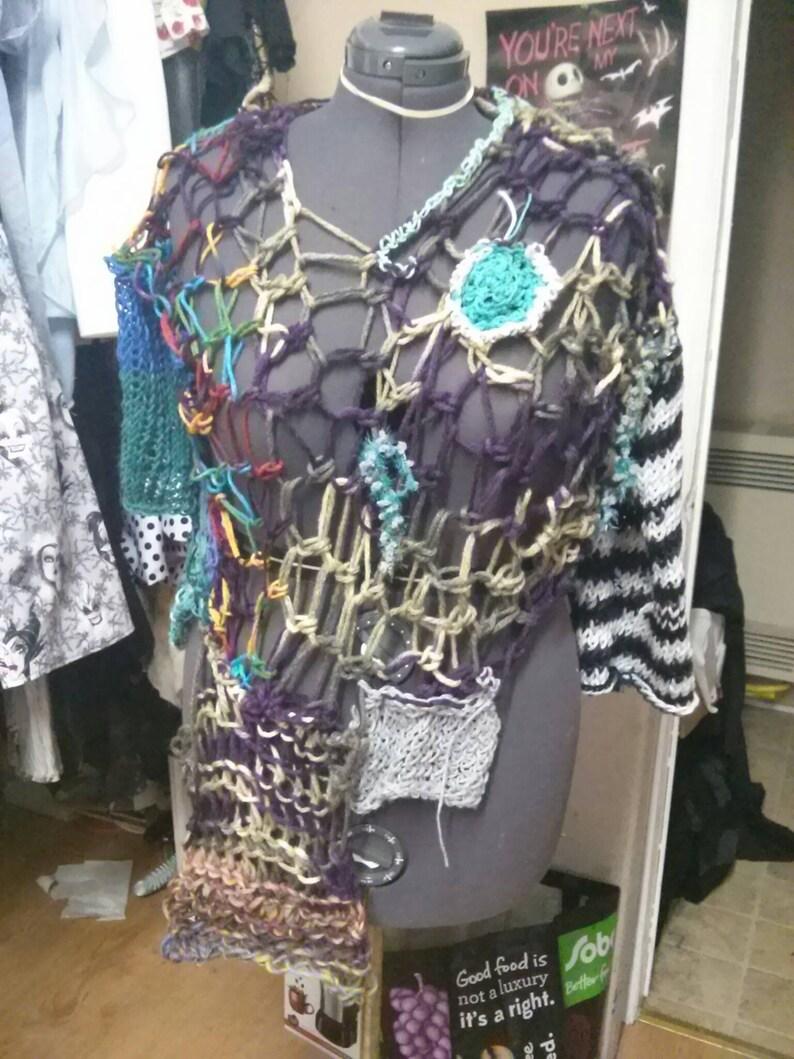 Bohemian Free Form Crochet Slouchy Tunic