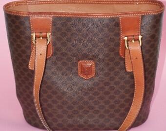 403295ed8a96 Vintage Celine Macadam Monogram Bucket Bag