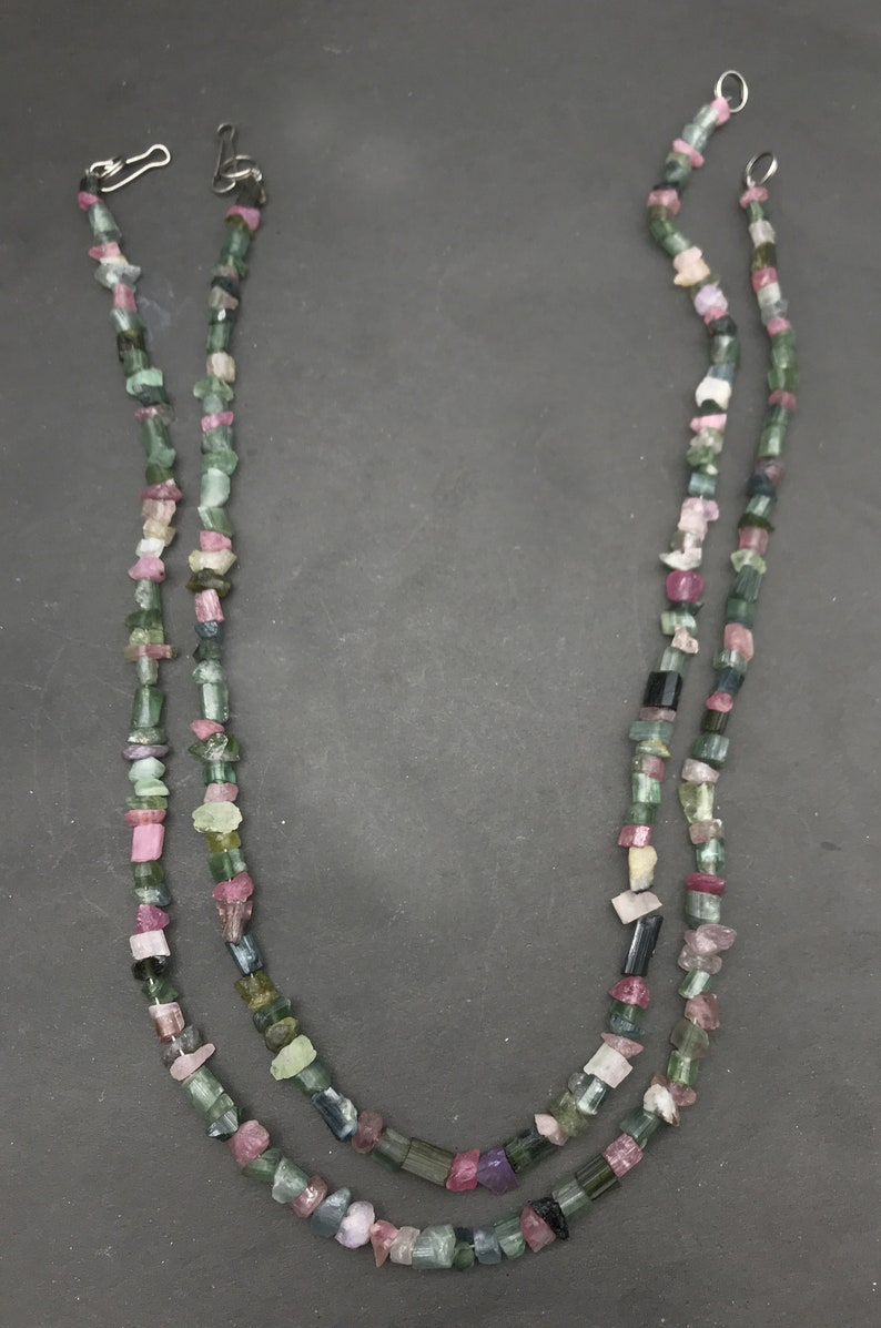 2 Pieces Natural Tourmaline Strands 44gr From Pakistan 17 inch Each C16