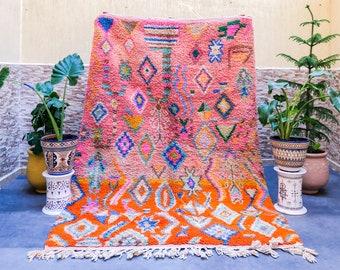 Custom Pink Boujaad rug, Orange Morrocan rug, Soft shag wool rug, Moroccan Berber rug, Bohemian rug, Custom sized rug in ALL SIZES