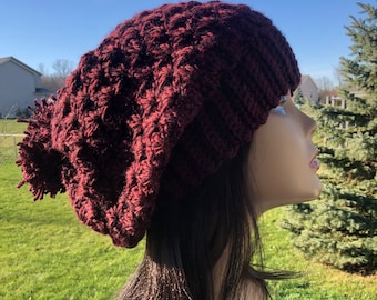 Brown Slouchy Hat, Brown BIG SLOUCH Beanie Oversized Beanie Slouch Hats Lightweight Women's hat