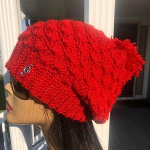 crochet beanie winterwear Remi crochet hat adult winter hat toque bobble hat adult hat purple hat