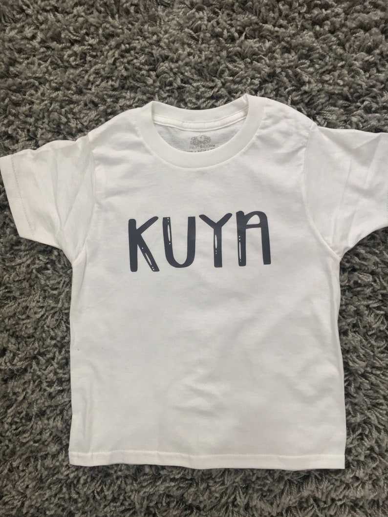 5c8039abe Kuya Big Brother printed on a White Gerber Onesie or White | Etsy