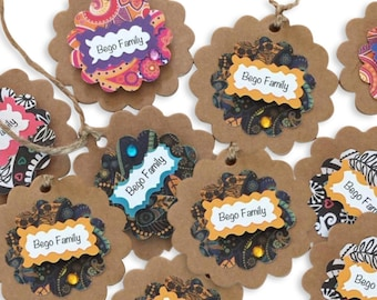 Craft Flower Tags