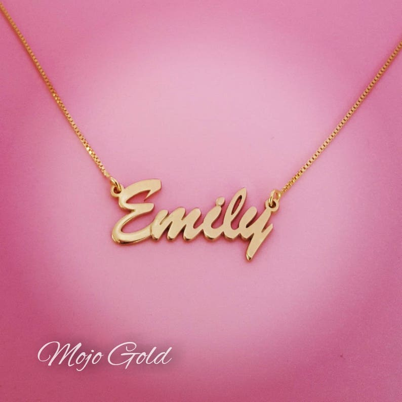 434a6f03f40a5 Women's Name Necklace/Women's Personalized Necklace/14K Gold Name  Necklace/Gold Name Necklace/Emily Necklace/Personalized Gift For Her