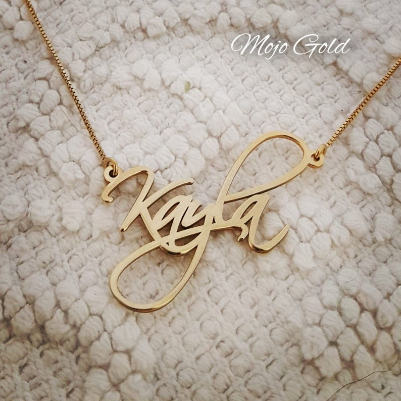 Order Any Name Personalized Necklace Women s Name Necklace  462912f4d6