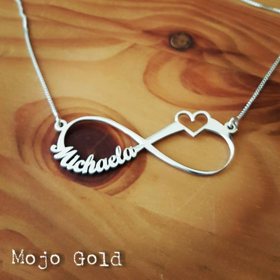 14K Gold Lucky Me Personalized Infinity Name Necklace by JEWLR