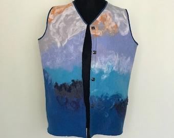 Handmade Felted Wool Vest