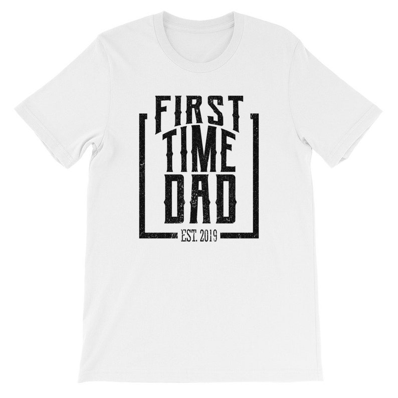 83ba6e12 First Time Dad Est. 2019 Shirt Excited Father Shirt | Etsy