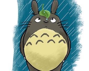 Totoro Mini Print