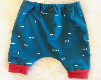 Baby harem shorts- Toddler harem shorts- Memorial day outfit- Independence day outfit- Red white and blue- Baby summer outfit-
