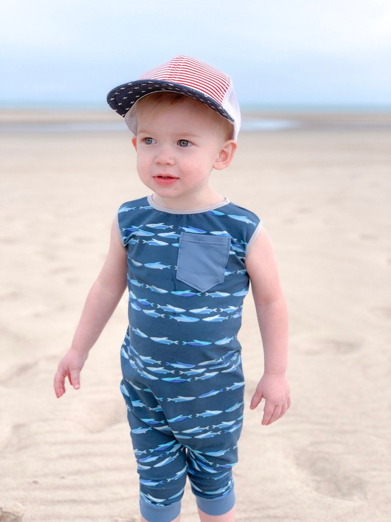 Summer coming home outfit Toddler whale tank romper Baby whale tank romper Boy summer outfit
