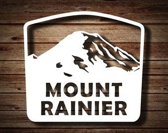 Mount Rainier Sticker   PNW   Washington Mountain   National Park   Die-cut Sticker Decal