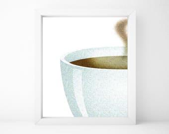 Coffee Print, Food Art, Food Print, Kitchen Print, Kitchen Wall Art, Kitchen Wall Decor, Printable Wall Art