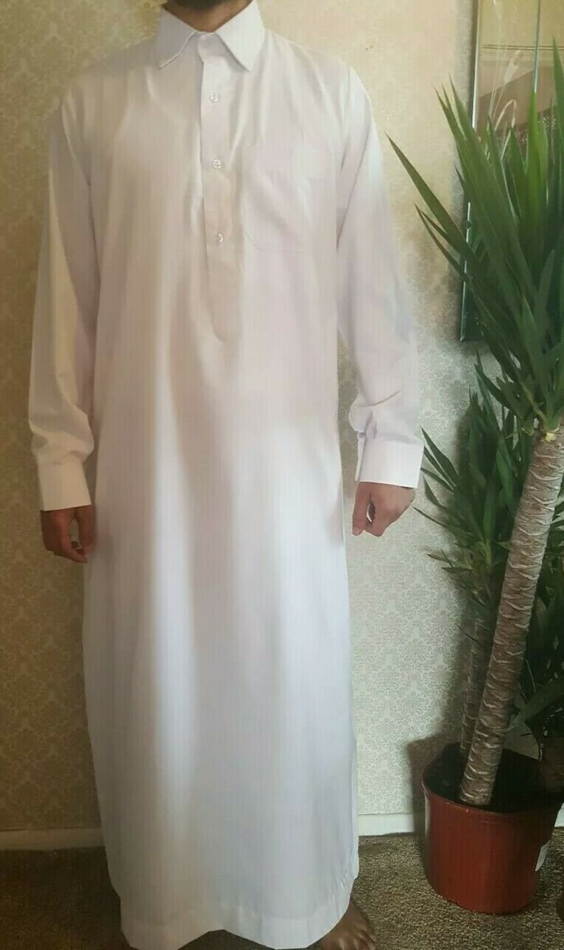 Men Thobesthobe with cuff Arabic dressIslamic image 0