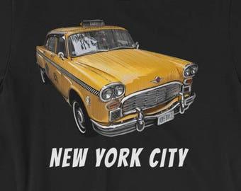 New York City Classic Checker Taxi Cab Big Apple NYC Short-Sleeve Unisex T-Shirt