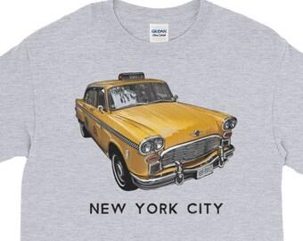 New York City Classic Checker Taxi Cab Big Apple NYC Long Sleeve T-Shirt