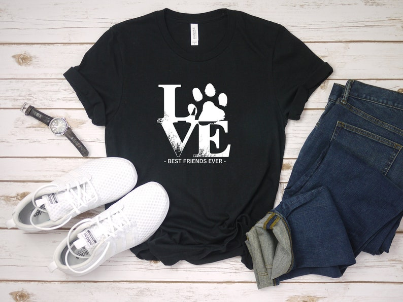 e9bda112a Love my dog shirt. Pet lover gift idea. Unique custom cute puppy t shirt  gift for pet rescuers, animal shelter volunteers, adoption moms.