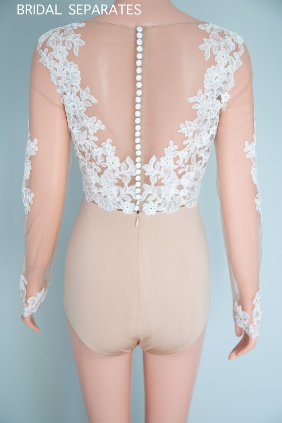 Bridal bodysuit Daisy with lots of lace