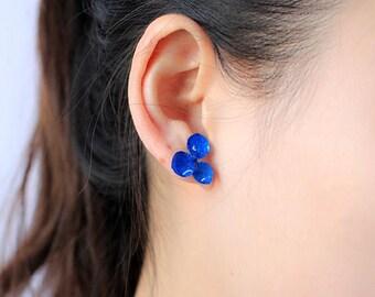 earring studs,real hydrangea earrings,lover earrings,girlfriend/wife earrings