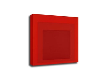 Josef Albers Color squares Red Pop Art Print Poster Canvas/Glossy HD Canvas, Gallery Wrap Or Glossy Poster