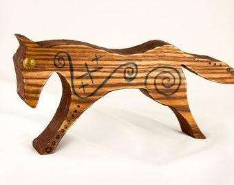 Gift Horse Figurine, Scandi Viking Style Horse Home Decor