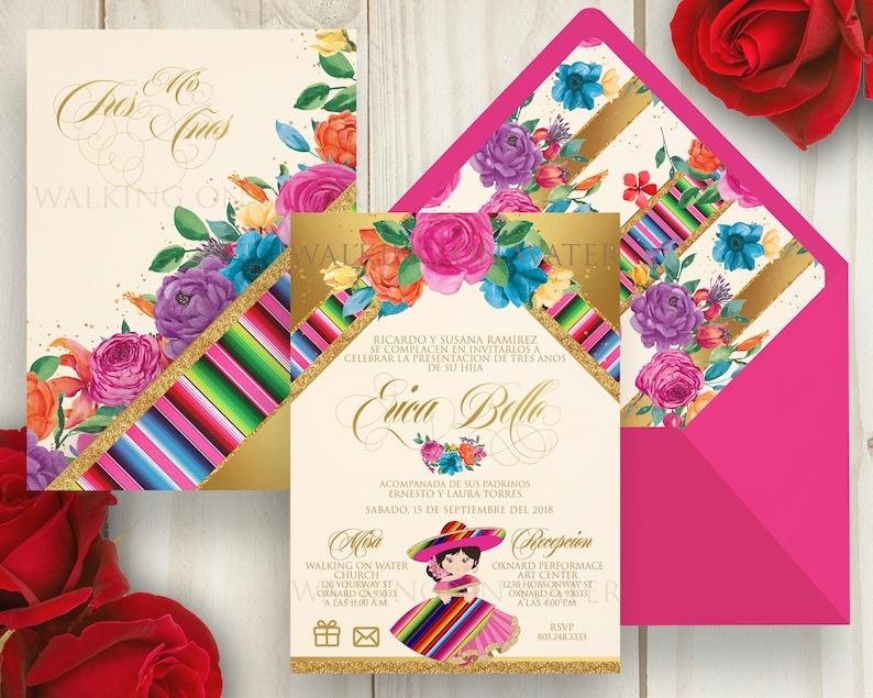 355836156 Fiesta Invitation Presentacion de Tres Anos Invitation