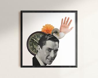 Shello - Digital Collage Art Print Poster