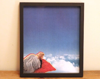 Wakey Wakey - Digital Collage Art Print Poster