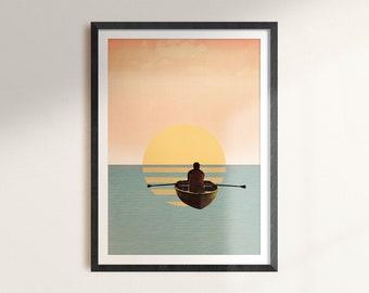 Float My Boat - Digital Collage Art Print Poster
