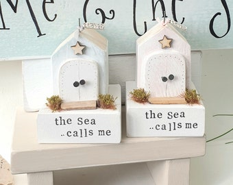 The Sea Calls Me.. Whimsical shabby Beach Hut