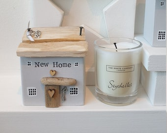 New Home little wooden Cottage , grey , 2021 charm .. made to order