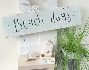 Duck egg blue ' Beach Days  ' sign.. ready to dispatch