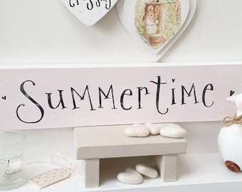 Pink ' Summertime' Sign.. ready to dispatch