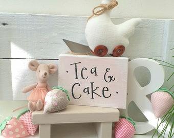 Tea & Cake freestanding sign made to order