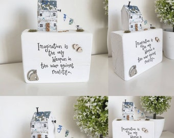 Little Wood House Cottage • Liberty Cottages Fabric • Mum Friend New Home Gift • Housewarming  • Bespoke Quirky gifts