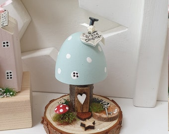 Toadstool Cottage .. Duck egg with Grand daughter  charm ref 12