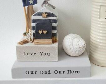 Our Dad Our Hero 12cm plinth